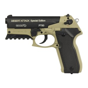 Pistola de Pressão CO2 Gamo PT-80 Desert Attack Semi-metal 4.5mm + Case Maleta