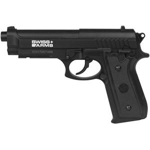 Pistola de Pressão CO2 Swiss Arms P92 4.5mm + Capa + 2 CO2 + 500 Esferas de aço