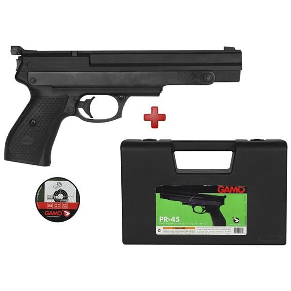 Pistola de Pressão Gamo PR-45 4.5mm + BRINDE Case Maleta e Chumbinho