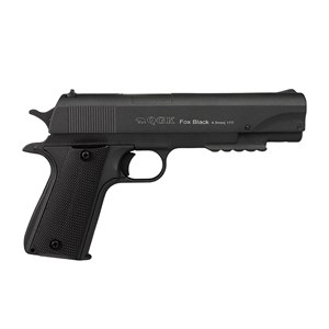 Pistola de Pressão Pump 1911 Fox Black Full Metal 4.5mm – QGK