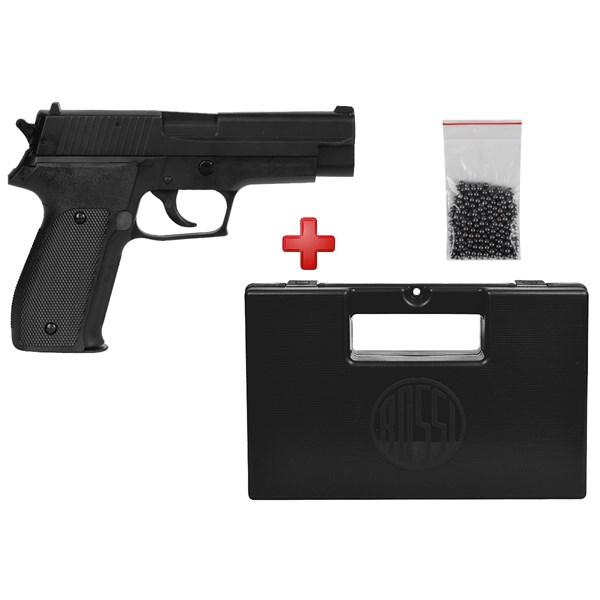 Pistola de Pressão Spring KWC P226 Semi-metal 4.5mm + Case Maleta + Esferas de Aço