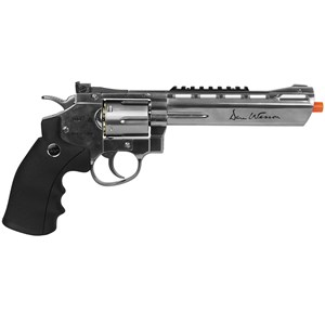 """Revólver Airsoft CO2 ASG Dan Wesson Silver 6"""" Full Metal"""