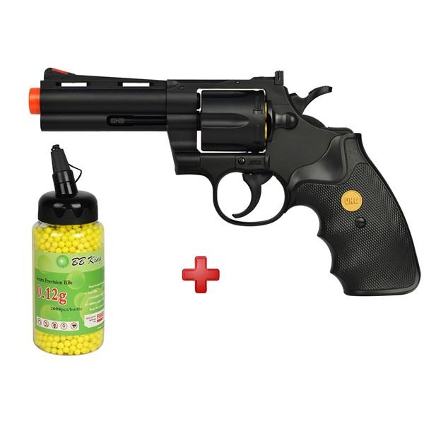 Revólver Airsoft Spring UHC Revolver Gun UA-937 + BBs BB King