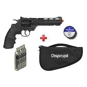 Revólver de Pressão CO2 Crosman Vigilante 4.5mm + Capa + Kit Munição