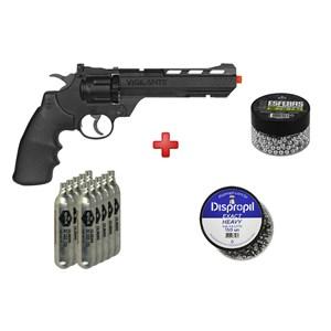 Revólver de Pressão CO2 Crosman Vigilante 4.5mm + Jogo Recarga