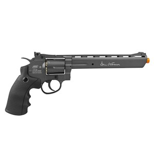 "Revólver de Pressão Co2 Dan Wesson 8"" Full Metal Grey 4.5mm – ASG"