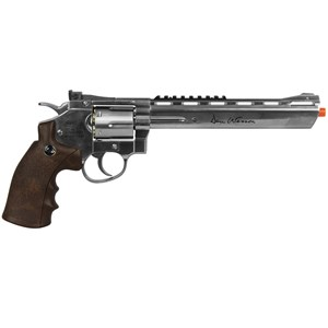 "Revólver de Pressão CO2 Dan Wesson Silver Wood 8"" Full Metal 4.5mm - ASG"