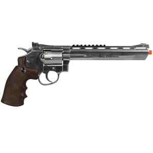 "Revólver de Pressão CO2 Dan Wesson Silver Wood 8"" Full Metal 4.5mm - ASG"
