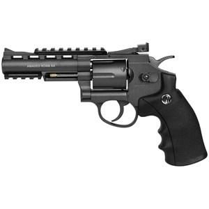 Revólver de Pressão CO2 Win Gun 701 Full Metal 4.5mm + 5 CO2 + Esfera de Aço 4.5mm 500un + Óleo