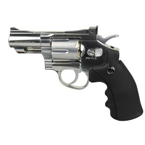 Revólver de Pressão CO2 Win Gun 708S Cromado 4.5mm + 5 Co2 + Esfera de Aço 4.5mm 500un