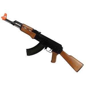Rifle Airsoft Elétrico Cyma AK47 CM.022 + BBs Velozter 0.12g 2000un + Óleo de Silicone
