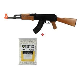 Rifle Airsoft Elétrico Cyma CM.022 + BBs SRC Taitus 0.20g