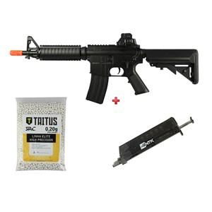 Rifle Airsoft Elétrico Cyma CM176 + BBs SRC Taitus 0.20g + Speed Loader AX