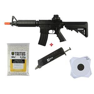 Rifle Airsoft Elétrico Cyma CM176 + BBs SRC Taitus 0.20g + Speed Loader AX + Alvo 17x17