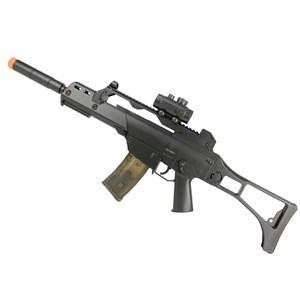 Rifle Airsoft Elétrico Cyma G36 CM.021 + BBs BB King 0.12g 1000un + Óleo de Silicone