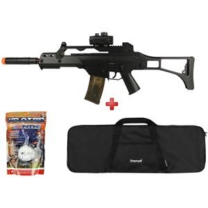 Rifle Airsoft Elétrico Cyma G36 CM. 021 + Capa Simples + BBS Velozter 0.12g 2000un