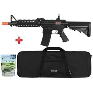 Rifle Airsoft Elétrico Cyma M4 CM505 Bivolt + Capa Simples + BBs BB King