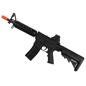 Rifle Airsoft Elétrico Cyma M4 CQB CM176 Bivolt + Pistola Airsoft Spring Vigor P92