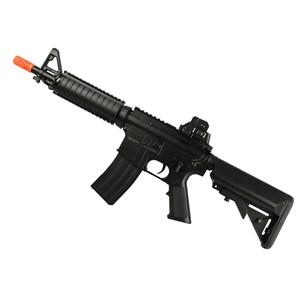 Rifle Airsoft Elétrico Cyma M4 CQB CM176 + Capa Simples + BBs Velozter 0.12g 2000un + Óleo de Silicone