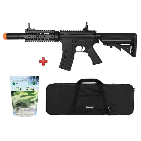 Rifle Airsoft Elétrico Cyma M4A1 Bivolt CM513 + BRINDE Capa Simples + BBs BB King 0.20g 5000un