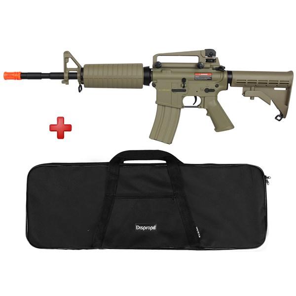 Rifle Airsoft Elétrico Cyma M4A1 CM503 TAN Bivolt + Capa Simples