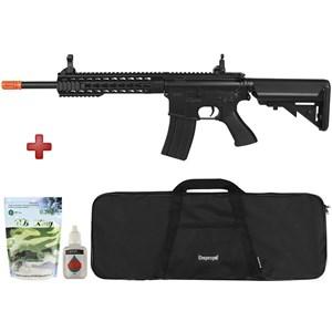 Rifle Airsoft Elétrico Cyma M4A1 CM515 Black Bivolt + Capa + BB King + Óleo