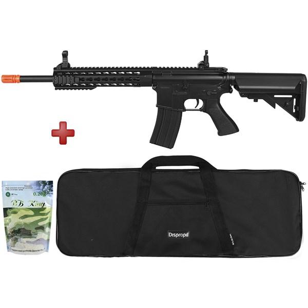Rifle Airsoft Elétrico Cyma M4A1 CM515 Black Bivolt + Capa Simples + BBs BB King