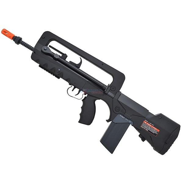 Rifle Airsoft Elétrico FAMAS F1 Semi-metal Bivolt 110/220v