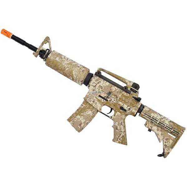 Rifle Airsoft Elétrico Navy Seals M4A1 Desert Digital Bivolt - King Arms