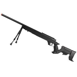 Rifle Airsoft GBB Well Sniper G22B Semi-Metal Preto + Bipé Full Metal