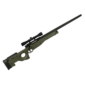 Rifle Airsoft Spring Evo Tactical Sniper L96 AWS Verde 400 Fps + Luneta Rifle Scope 4x32 22mm