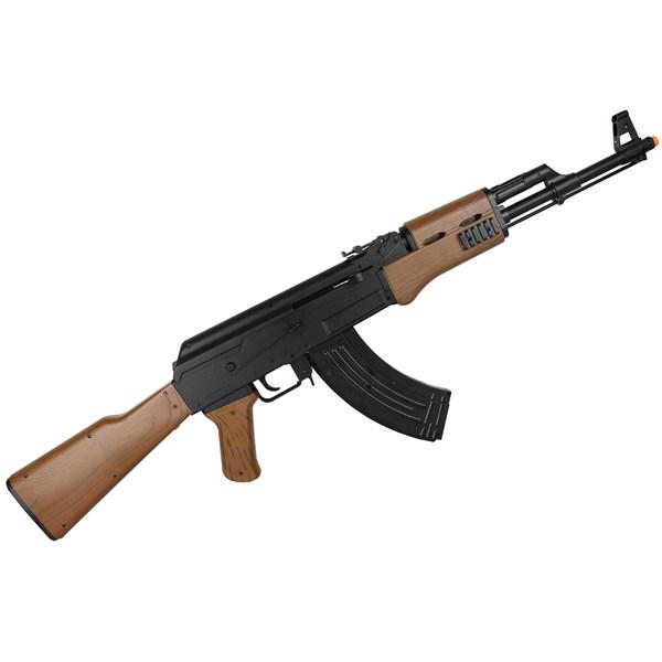Rifle Airsoft Spring Saigo Defense AK-47 + Capa Simples 90x30 + BB King 0.12g 2000un + Óleo