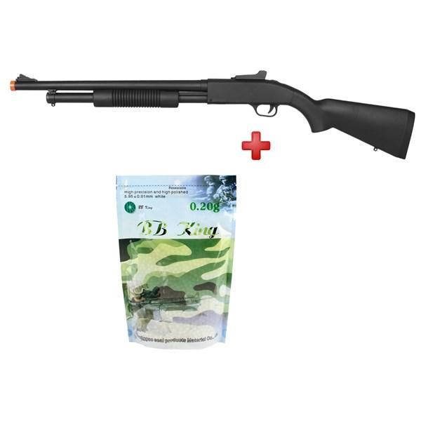 Rifle Airsoft Spring Shotgun Cyma ZM61A + BBs Airsoft BB King 0.20g 5000un