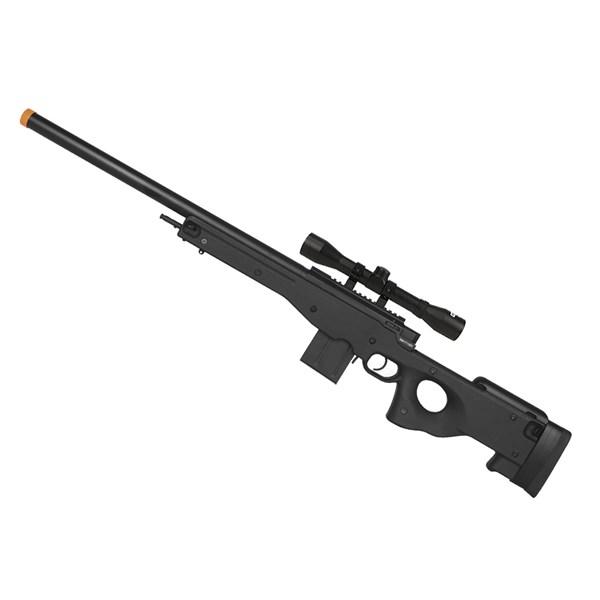 Rifle Airsoft Spring Sniper Cyma L96 CM.703BK + Luneta Fixxar 4x32 22mm