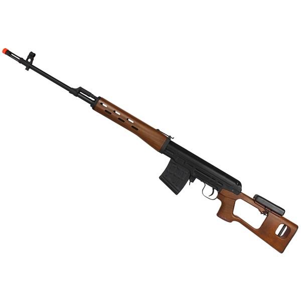 Rifle Airsoft Spring SVD Sniper Wood Semi-metal - King Arms