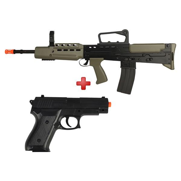 Rifle Airsoft Spring Vigor L85A1 + Pistola Airsoft Spring Vigor P1918