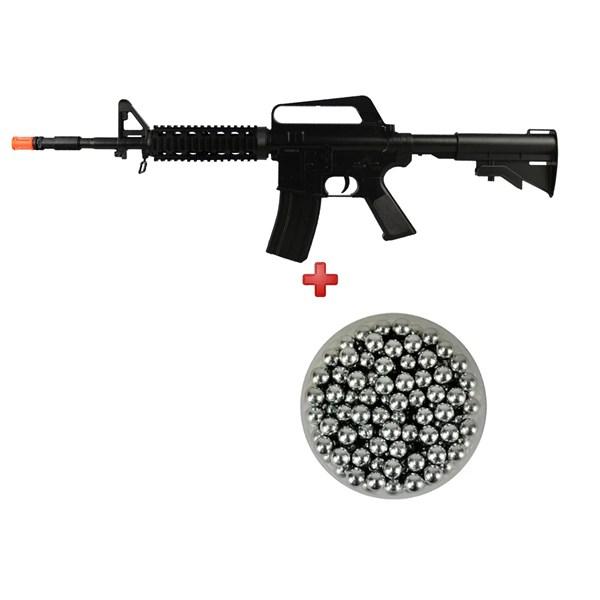 Rifle Airsoft Spring Vigor M16 RIS + Esferas de Alumínio Dispropil 6mm 200un