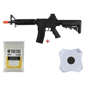 Rifle Airsoft Spring Vigor M4 + BBs SRC Taitus 0.20g + Alvo papel 14x14