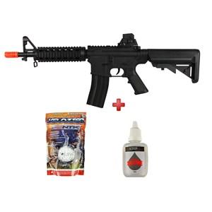 Rifle Airsoft Spring Vigor M4 CQB Black + BBs Velozter 0.12g 2000un + Óleo Silicone