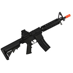 Rifle Airsoft Spring Vigor M4 CQB Black + Esferas de Alumínio Dispropil 200un