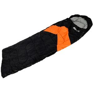 Saco de Dormir Viper Preto e Laranja + Isolante Térmico Alu - Nautika